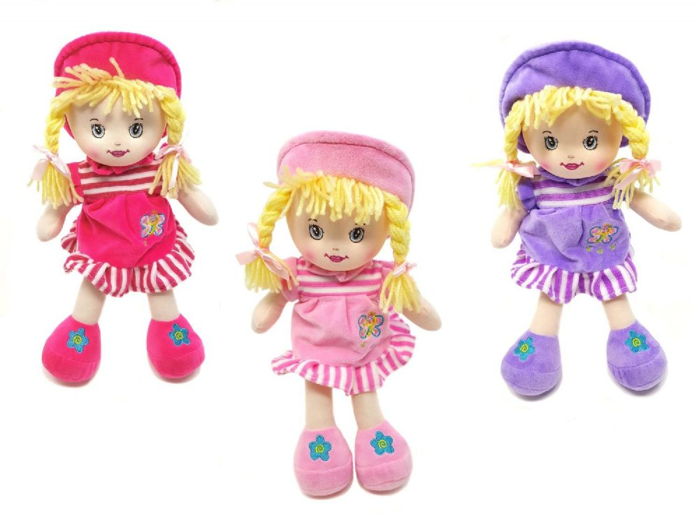 NY8920 30cm Rag Doll with Hat